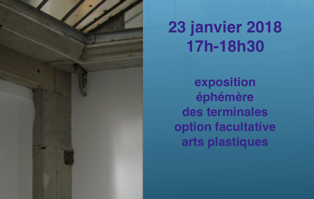Invitation exposition 23 janvier 17h/18h30