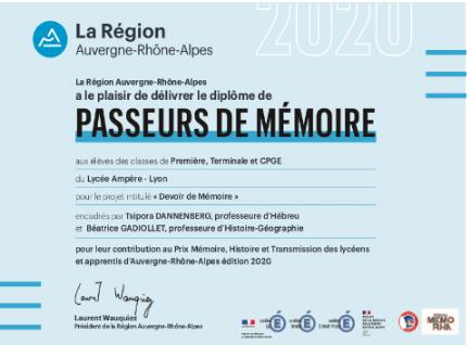 Diplome Passeur mémoire.PNG